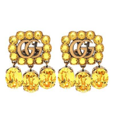 Gg Crystal-Embellished Earrings - Gucci | Mytheresa