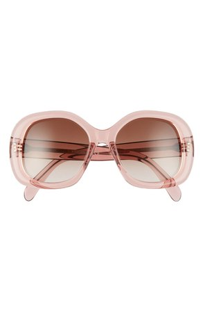 CELINE 55mm Gradient Round Sunglasses | Nordstrom