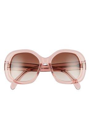 CELINE 55mm Gradient Round Sunglasses | Nordstrom
