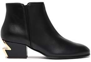 G-heel Leather Ankle Boots