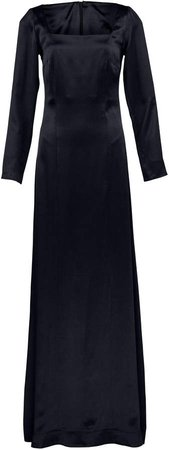 Deitas Nova Square-Neck Satin Maxi Dress
