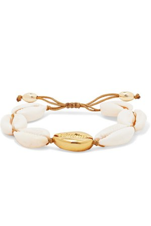 Tohum | Large Puka gold-plated and shell bracelet | NET-A-PORTER.COM