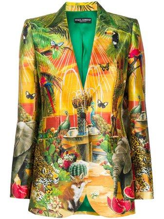 Dolce & Gabbana Blazer Estampado Con Botones - Farfetch