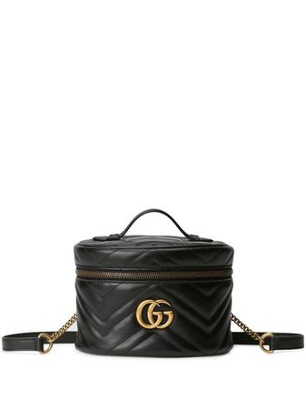 Shop black Gucci GG Marmont mini backpack with Express Delivery - Farfetch