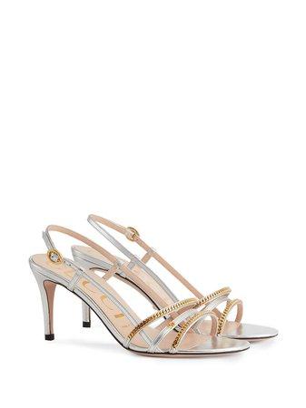Gucci 75mm chain-embellished sandals - FARFETCH