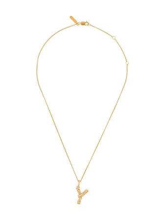 Chloé Letter Y Pendant Necklace - Farfetch