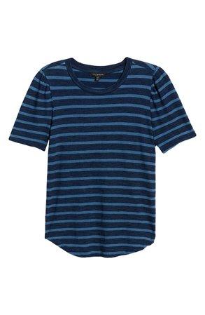 Lucky Brand Stripe Puff Sleeve T-Shirt | Nordstrom