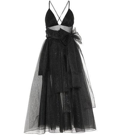 Cotton-blend sleeveless dress
