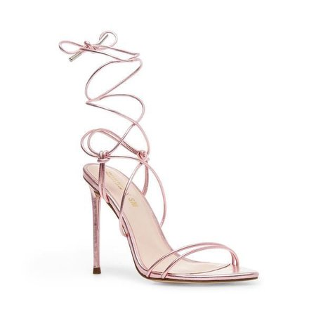 Steve Madden Pink Metallic Lace Up Heels