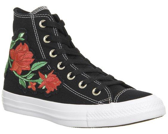 Converse Converse All Star Hi Black Red Rose - Unisex Sports
