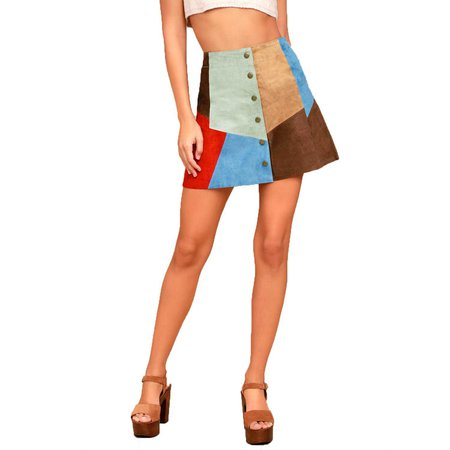 White Crow Rosarito Multi Suede Mini Skirt | Muse Boutique Outlet – Muse Outlet