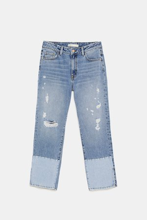 Zara Jeans Cropped