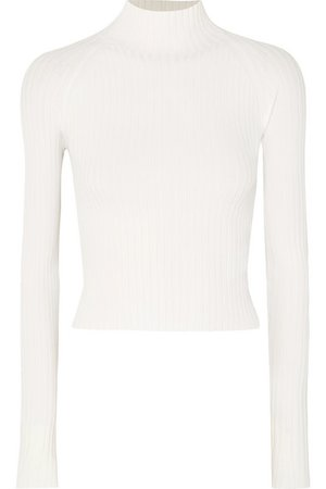 Dion Lee | Twisted cutout ribbed-knit top | NET-A-PORTER.COM