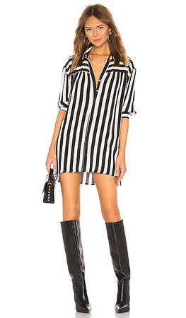 Lovers + Friends Kay Shirt Dress in Black & White | REVOLVE
