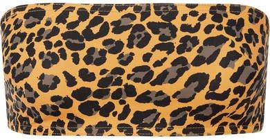 Leopard-print Bandeau Bikini Top - Leopard print