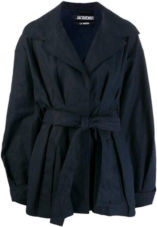 belted oversized coat