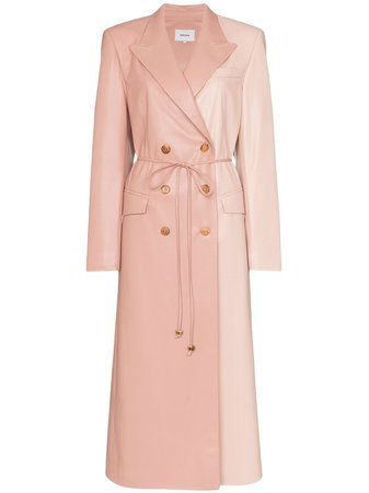 Nanushka Manila Vegan Leather Trench Coat Ss20 | Farfetch.com