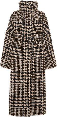Agnona Belted Wool Mockneck Coat