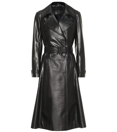 Leather Trench Coat - Prada | Mytheresa