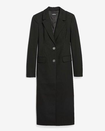 Notch Lapel Button Front Coat
