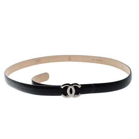 chanel black belt