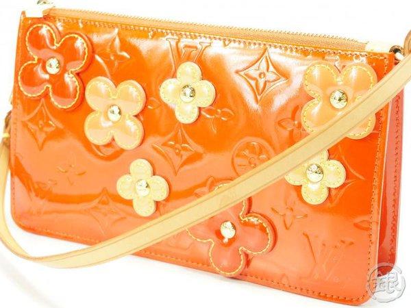 AUTHENTIC PRE-OWNED LOUIS VUITTON VERNIS ORANGE FLOWER LEXINGTON POUCH BAG M92247 132801   GINZA-JAPAN Online Shop