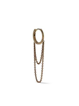 Feidt Paris 9kt yellow gold creole chain earring - FARFETCH