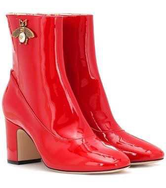 Gucci - Patent leather ankle boots