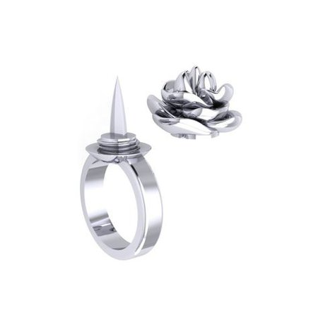 Rose Ring Tiny Knife