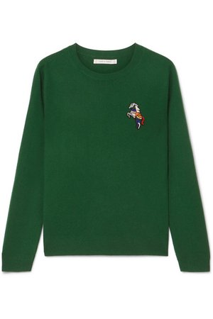 Chinti and Parker   Embroidered cashmere sweater   NET-A-PORTER.COM