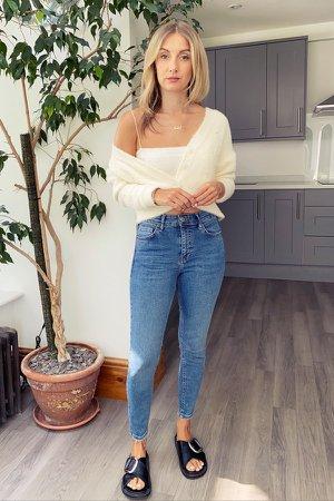 PETITE Mid Stone Jamie Skinny Jeans