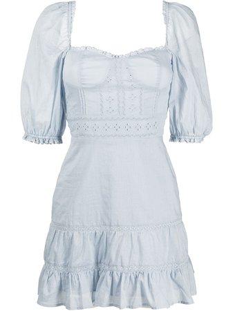 Reformation Paxton puff-sleeve Mini Dress - Farfetch