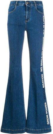 Stellabration print flared jeans