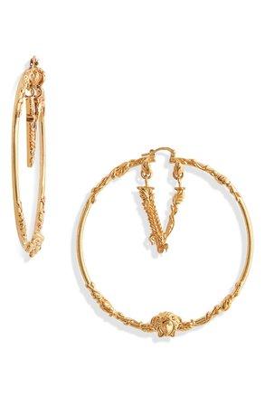 Versace Virtus Hoop Earrings | Nordstrom