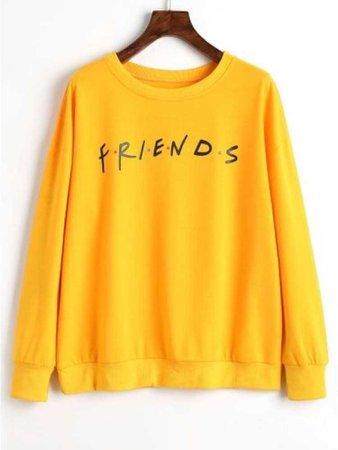 yellow friends sweatshirt