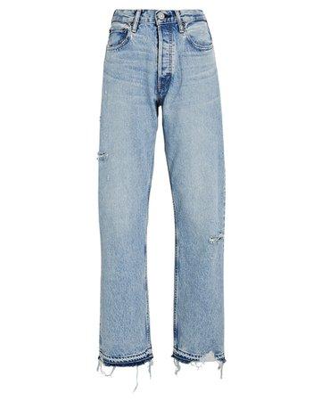MOUSSY VINTAGE Brookline Wide Straight-Leg Jeans | INTERMIX®