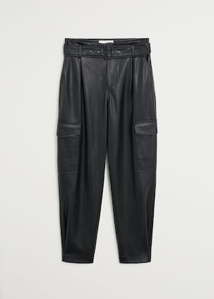 Pocket cargo pants - Women | Mango USA black