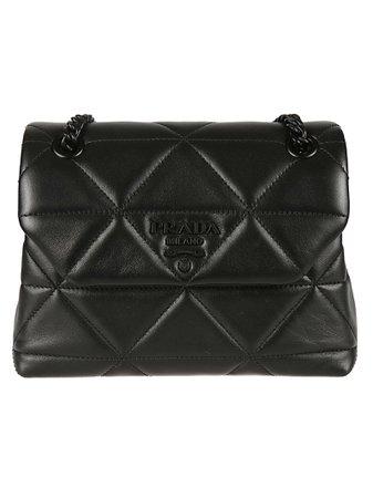 Prada Logo Plaque Quilted Chain Shoulder Bag