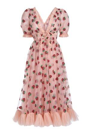 Strawberry Midi Dress – Lirika Matoshi