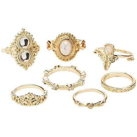 Gold Stackable Ring Set