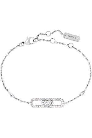 Messika | Baby Move 18-karat white gold diamond bracelet | NET-A-PORTER.COM