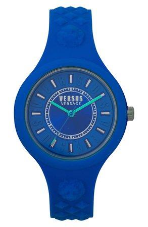VERSUS Versace Fire Island Silicone Strap Watch, 39mm | Nordstrom