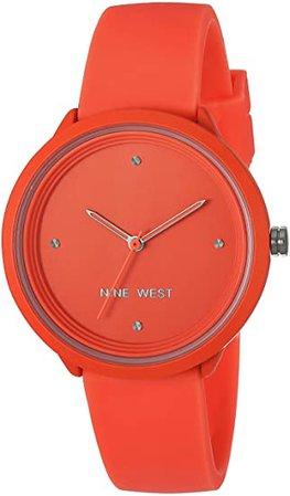 Amazon.com: Nine West Women's Neon Purple Silicone Strap Watch, NW/2425PRPR: Watches
