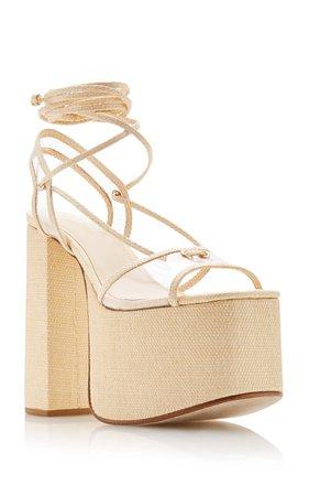 Diana Platform Wrap-Tie Heels by Cult Gaia | Moda Operandi
