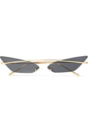 Poppy Lissiman | Skinny Demon cat-eye gold-tone sunglasses | NET-A-PORTER.COM