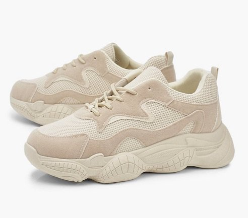 cream trainers