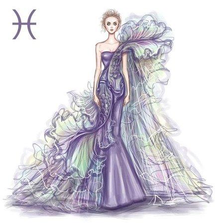 pisces fashion sketch