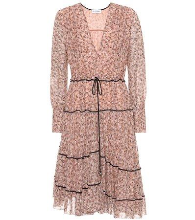 Isabel floral silk-blend dress