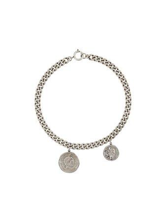 Acne Studios vintage coin choker necklace
