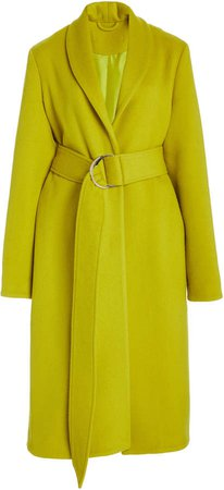 Sally LaPointe Textured-Wool Tailored Coat